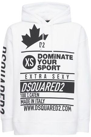 Dsquared2 Printed Cotton Jersey Sweatshirt Hoodie