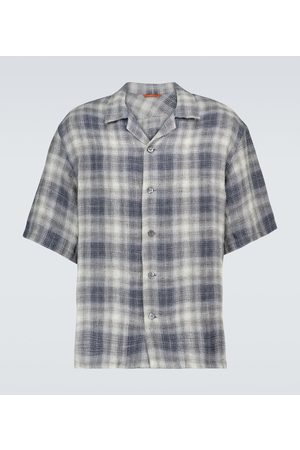 BARENA Checked linen shirt