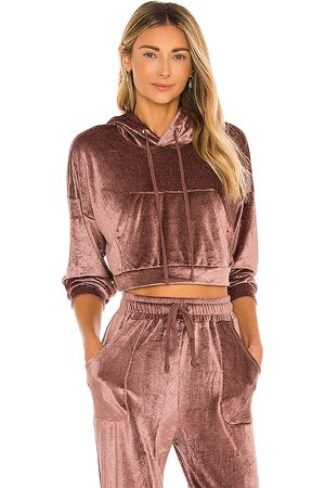 h:ours Cropped Hoodie in Mauve.