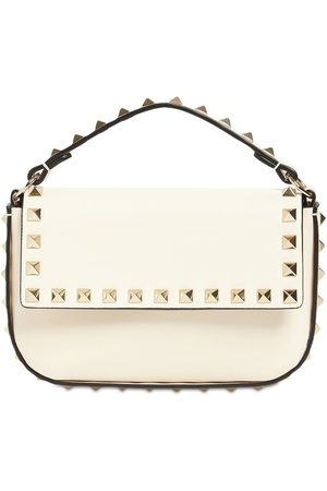 VALENTINO GARAVANI Women Shoulder Bags - Small Leather Rockstud Top Handle Bag