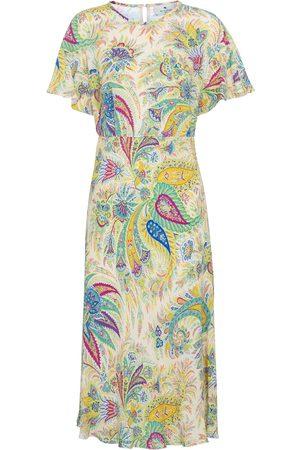 Etro Printed silk crêpe de chine midi dress