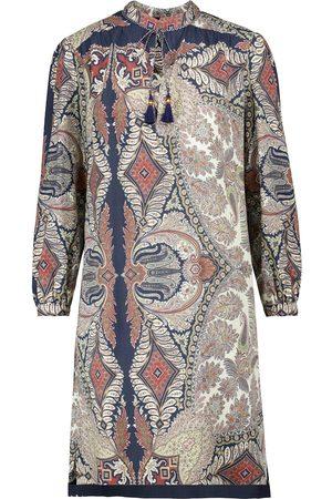 Etro Printed wool and silk midi dress