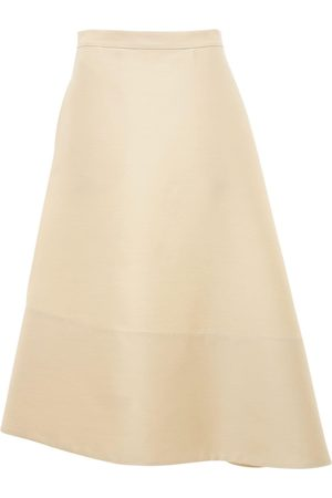 Jil Sander Asymmetric Wool & Silk Flared Skirt