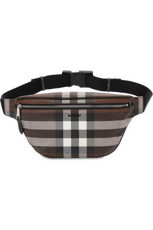 Burberry Men Bags - Cason Check E-canvas Belt Bag