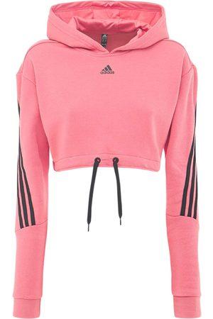 adidas Women Hoodies - Cropped Sweatshirt Hoodie