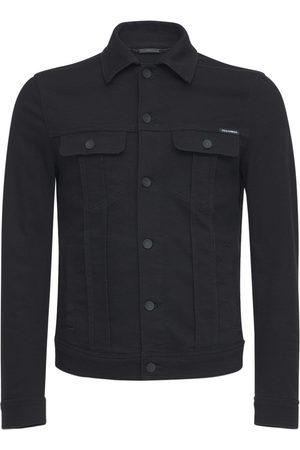 Dolce & Gabbana Macro Embossed Logo Denim Jacket