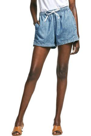 Outland Denim Women's Faith Elastic Waist Chambray Shorts