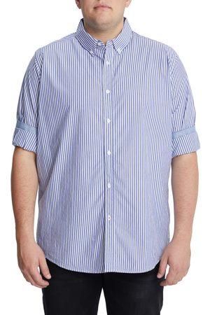 Johnny Bigg Men's Big & Tall Forrest Stretch Stripe Button-Down Shirt