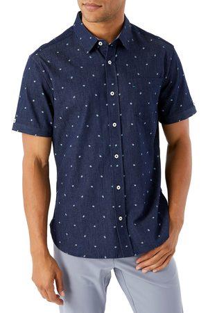7 Diamonds Men's Miles Ahead Floral Short Sleeve Button-Up Shirt