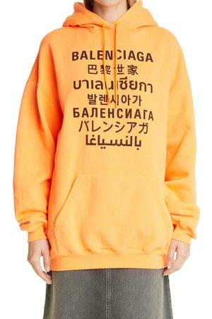 Balenciaga Women's Oversize Logo Hoodie