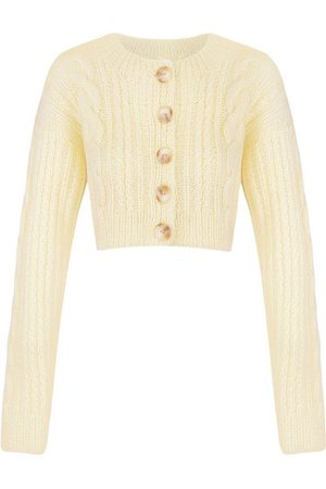 Anna October Tavria Cable-Knit Wool-Blend Cropped Cardigan