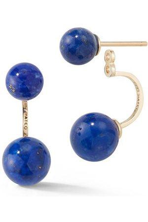 Mateo Women Earrings - 14kt Lapis Ear Jacket Earrings
