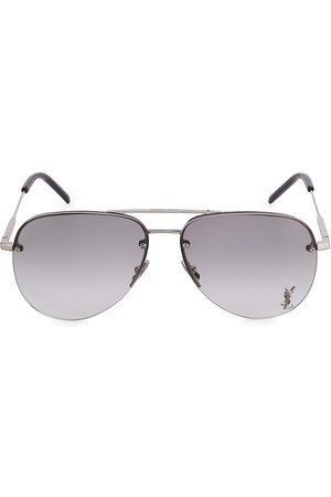 Saint Laurent Women Aviators - Women's Monogram 59MM Aviator Sunglasses