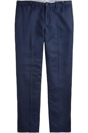 Polo Ralph Lauren Men's Straight-Fit Linen-Blend Pants - Newport Navy - Size 36