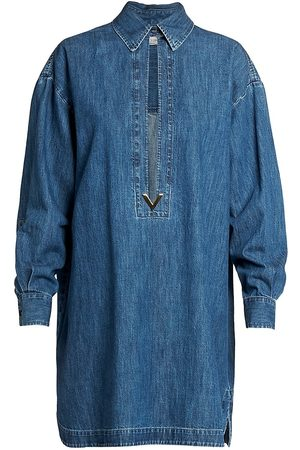 VALENTINO Women Denim Jackets - Women's Denim Caftan - - Size 12