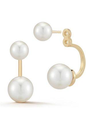 Mateo Women Earrings - 14kt Pearl Ear Jacket Earrings
