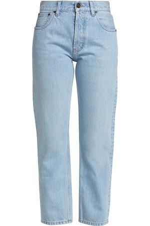 Saint Laurent Women Straight - Women's Authentic Straight-Leg Jeans - Basic - Size Denim: 25