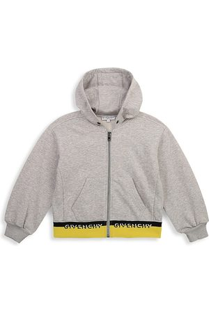 Givenchy Little Girl's & Girl's Two-Tone Hem Zip-Up Hoodie - Grey - Size 8