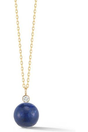 Mateo 14kt Lapis and Diamond Dot Necklace