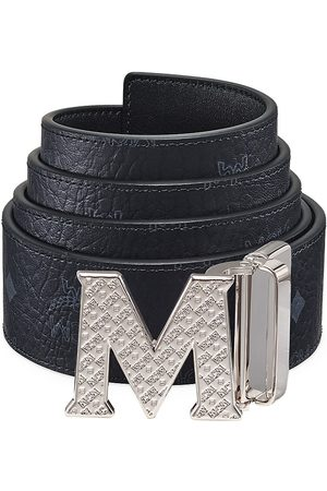 MCM Men's Claus Reversible Logo Engraved Belt