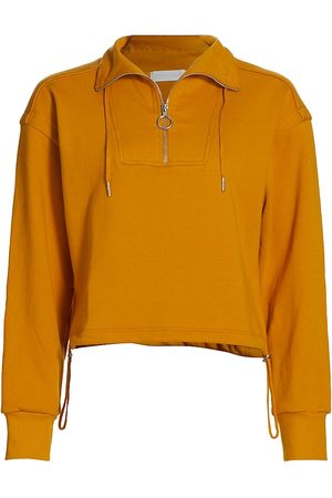 Jonathan Simkhai Standard Women Denim - Women's Zella Cropped Pullover - Ochre - Size Medium