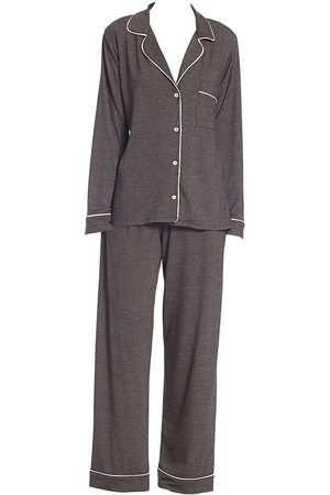Eberjey Women Pajamas - Women's Gisele Long Pajama Set - Charcoal Heather - Size XL