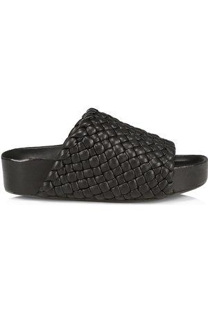 SIMON MILLER Women's Dip Vegan Woven Leather Platform Slides - - Size 11 Sandals