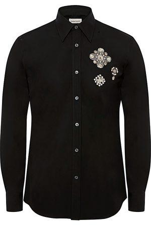 Alexander McQueen Men Shirts - Men's Jewel Patch Shirt - - Size 15