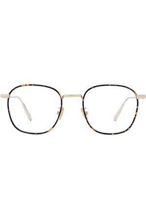 Dior Men Square - Men's BlacksuitO RF 50MM Metal Square Optical Glasses - Shiny