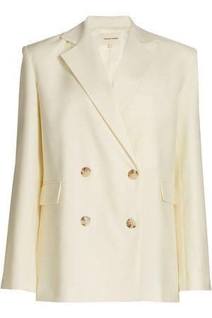 Loulou Studio Women Blazers - Women's Tatakoto Double Breasted Wool Jacket - Ivory - Size Medium