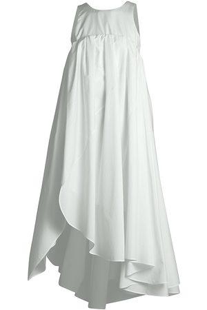 Nina Ricci Women's Sleeveless Asymmetric Silk Dress - Off - Size 36