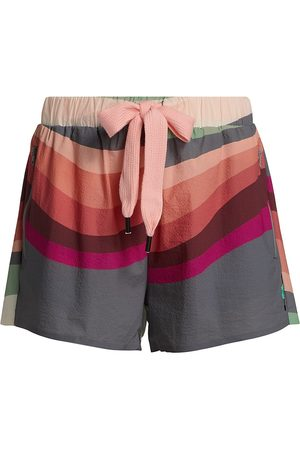 The Upside Women Shorts - Women's Sunset Efrem Shorts - Abstract - Size Large