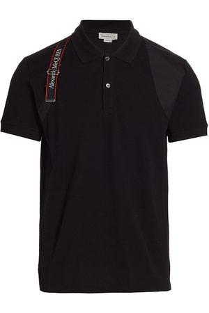 Alexander McQueen Men's Logo Tape Harness Polo Shirt - - Size XXL