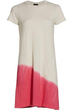 ATM Anthony Thomas Melillo Women's Asymmetrical Dip-Dye T-Shirt Dress - Tie Dye - Size Large