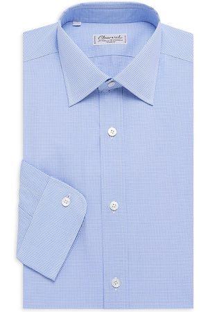 Charvet Men's Solid Poplin Dress Shirt - - Size 15 R
