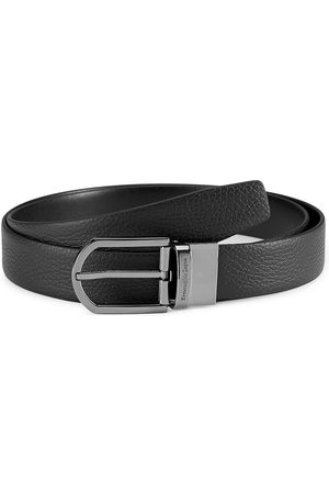 Ermenegildo Zegna Men Belts - Men's Reversible Leather Belt - - Size 44