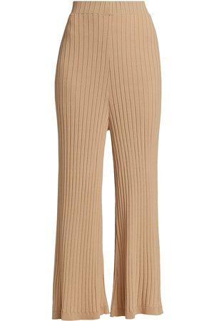 RONNY KOBO Women's Debbie Knit Wide-Leg Pants - Sand - Size Large