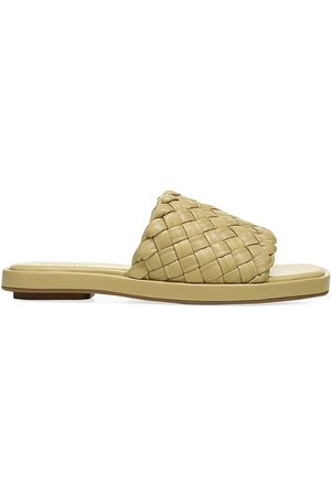 Vince Women's Rumi Woven Leather Slides - Barley - Size 8 Sandals