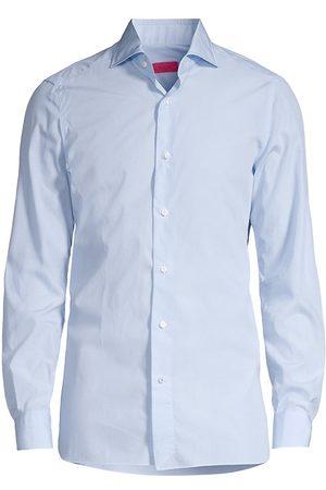 ISAIA Men Tops - Men's Classic Sport Shirt - Aqua - Size 16