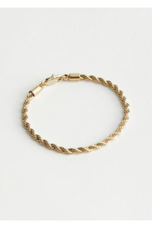 & OTHER STORIES Twisted Rope Chain Bracelet
