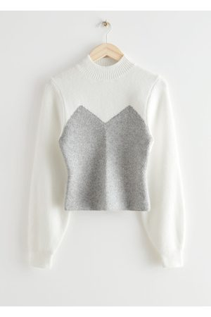 & OTHER STORIES Colour Block Mock Neck Sweater