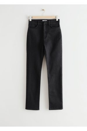& OTHER STORIES Slim High Waist Slit Jeans