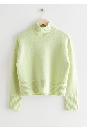 & OTHER STORIES Cropped Mock Neck Sweater
