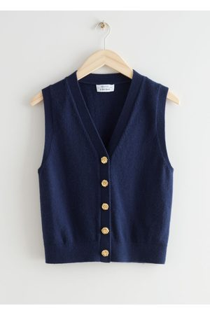 & OTHER STORIES Floral Button Knit Vest