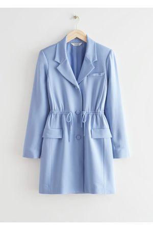 & OTHER STORIES Drawstring Waist Blazer Mini Dress