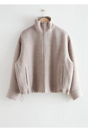 & OTHER STORIES Women Jackets - Wool Blend Zip Jacket