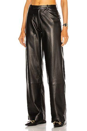 Zeynep Arcay Low Waist Leather Pants in