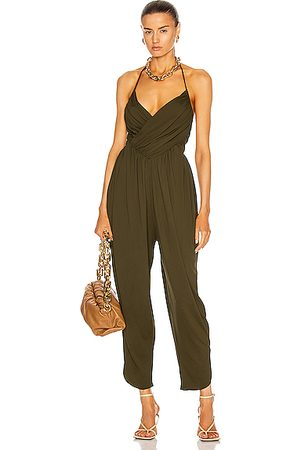 ALEXANDRE VAUTHIER Ruched Jumpsuit in Green