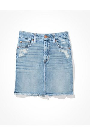 American Eagle Outfitters Ne(x)t Level Curvy High-Waisted Denim Mini Skirt Women's 14