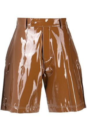 GCDS Vinyl bermuda shorts